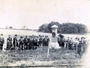 Veterans of the 15th Massachusetts Regiment at Ward Monument, 1909, Gettysburg PA