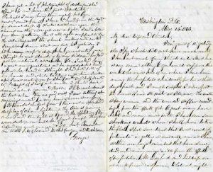 Letter from George H. Ward to his wife, Emily Mayo Ward, May 13, 1863