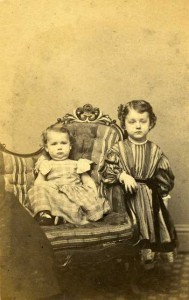 The Ward sons: George (standing) and Robert, mid-1862
