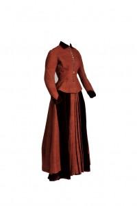Swedish Dress, 1869, wool and velvet. Gift of Mrs. Marianne Jeppson II, 2013.