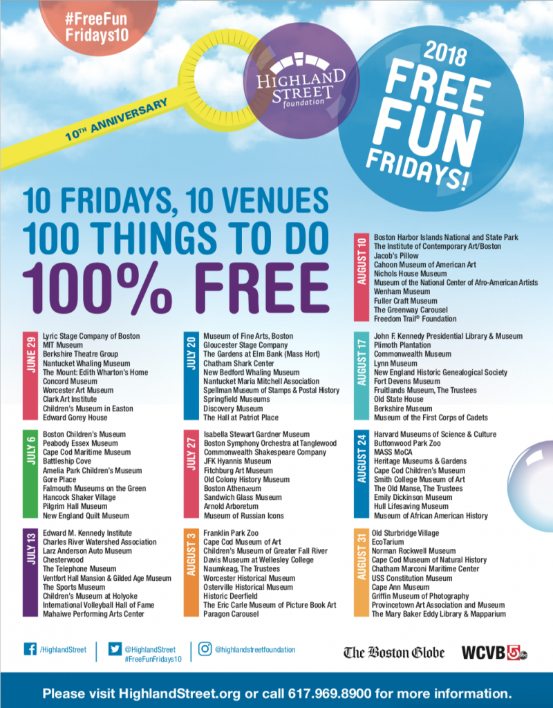 free-fun-friday-schedule