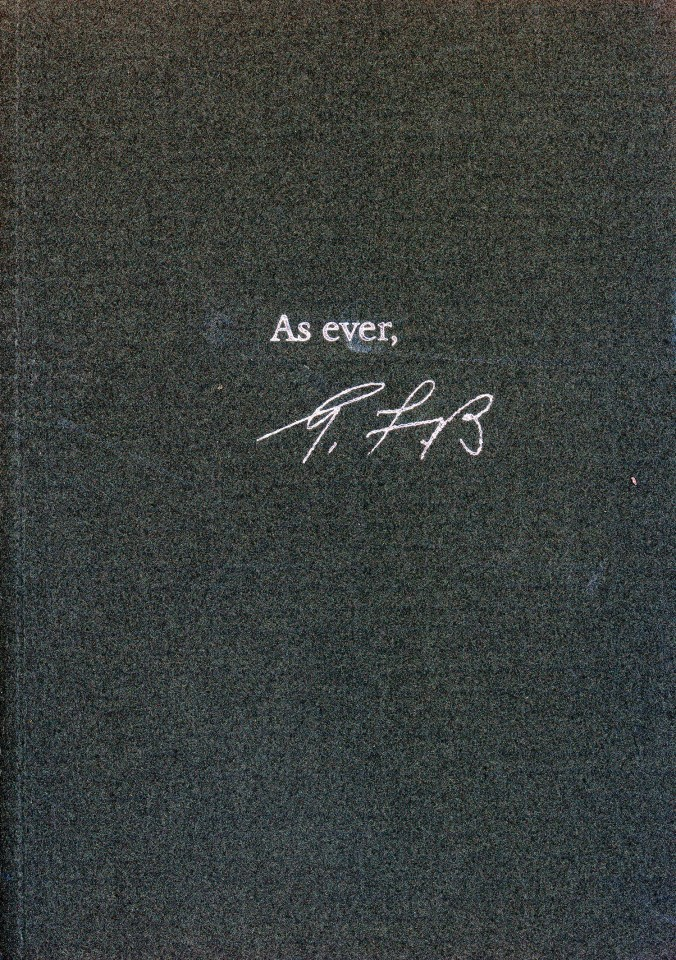 As Ever: A memoir of George F. Booth, based on his correspondence