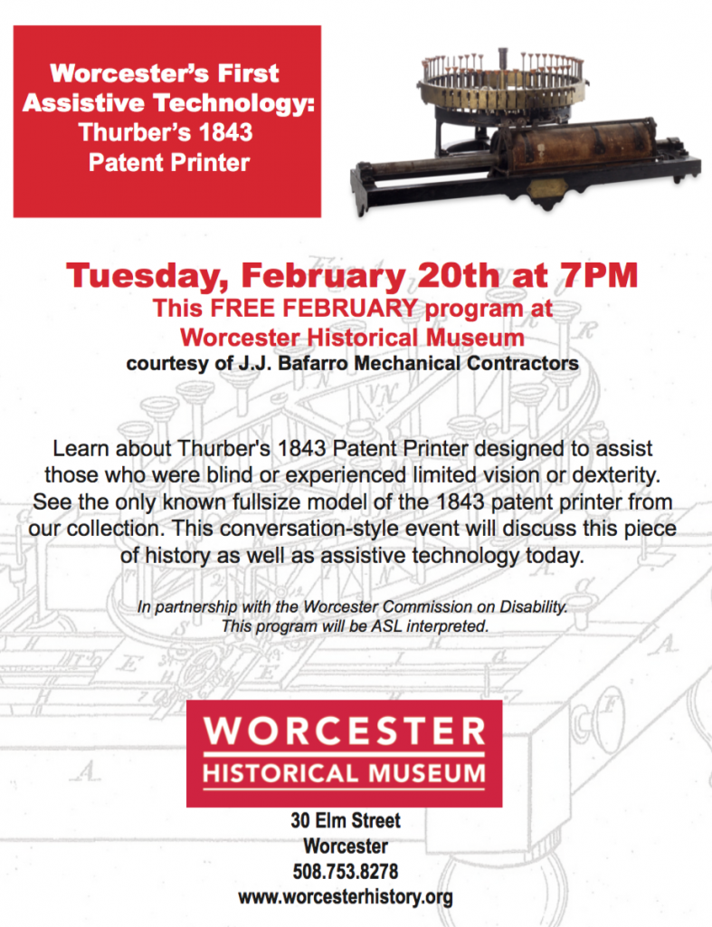 Thurber's 1843 Patent Printer