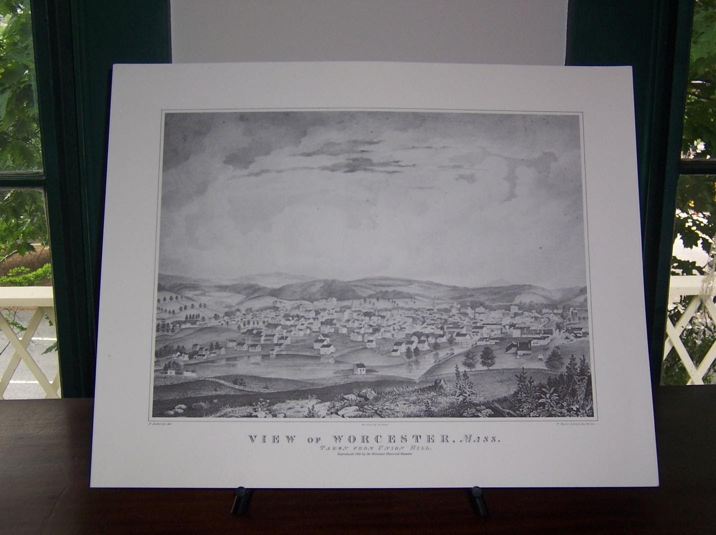 1830 print of Worcester
